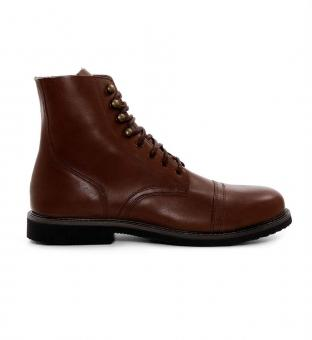 Boots 1966 Low Quarters rotbraun 46