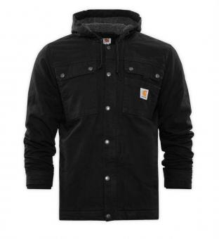 Canvasjacke Washed Duck Bartlett schwarz S