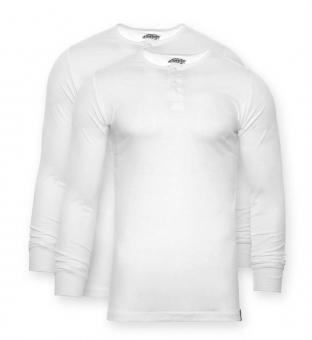Henley-Shirt Seibert 2er-Set weiß S