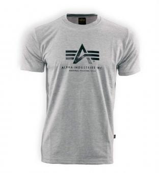 T-Shirt Basic Alpha grau 3XL