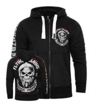 Zip-Hoodie Flying Villains schwarz L