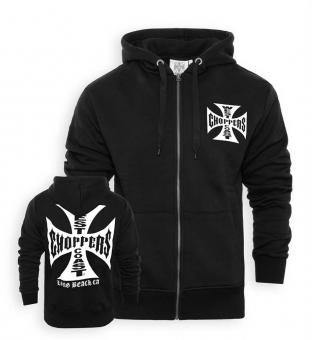 Zip-Hoodie Iron Cross schwarz XL